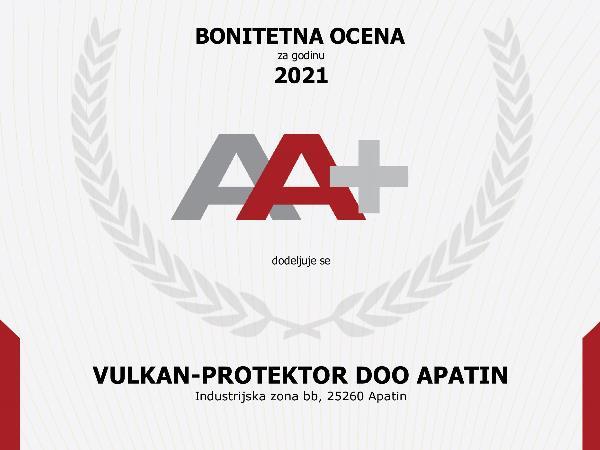 Bonitetna ocena 2021 AA+